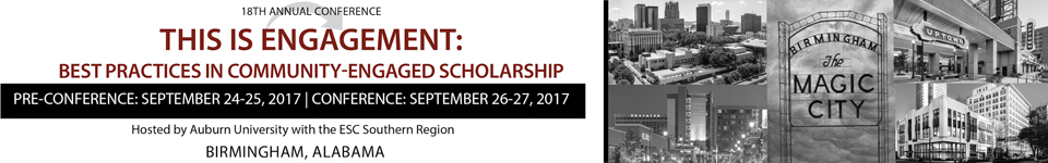 2017 Engagement Scholarship Consortium Conference Banner