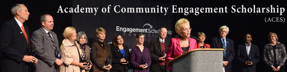 Academy of Community Engagement Scholarship Banner
