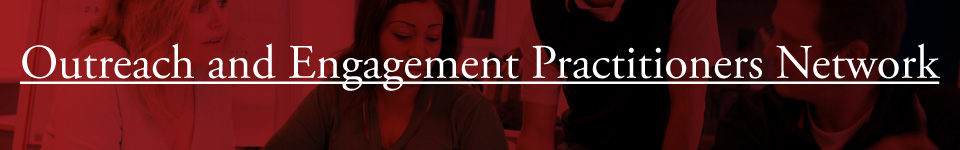 Outreach and Engagement Practitioners Network Banner
